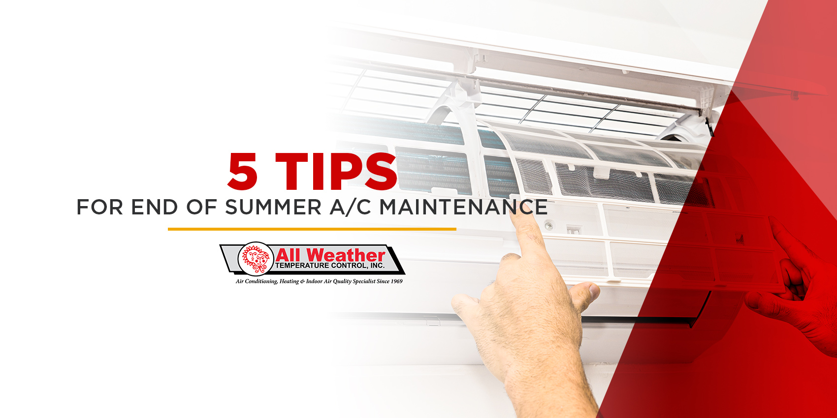 5 Tips for End-of-Summer A/C Maintenance