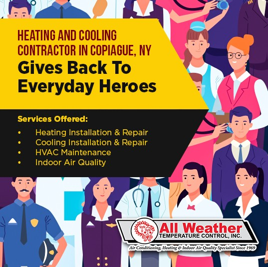 Heating & Cooling Contractor in Copiague, NY Gives Back to Everyday Heroes